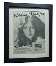 TEENA MARIE+Wild & Peaceful+POSTER+AD+RARE ORIGINAL 1978+FRAMED+FAST GLOBAL SHIP
