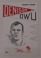 Denison vs Ohio Wesleyan Football 1963 Program J64901
