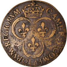 [#871993] France, Jeton, Royal, Henri II, Chambre des Comptes du Roi, 1552, TB+
