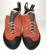 """Scarpa Thunder Climbing Shoes,Parrot Red, Us M 9.5 W 10.5 """"Pre-owned"""