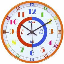 Kids Clock Bedroom Learning Time Educational Teaching Room Wall Home Decor Clock