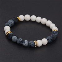 2017 New Men Women's Yoga Bead Charm Agate Stretch Lovely Fashion Bracelets Bead