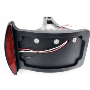 """Side Tail Brake LED Light License Plate Mounted Black Fit 1"""" axles or 7/8"""" axles"""