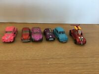 Joblot Vintage Diecast Models Cars x 8 Matchbox Lesney Corgi vw mini