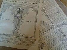 """PATRON ORIGINAL POUR LA POUPEE BLEUETTE """"COSTUME DE PECHEUSE  JUILLET 1913"""