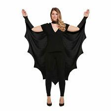 WOMEN'S BAT CAPE COSTUME FANCY PARTY DRESS ADULT VAMPIRE LADIES HALLOWEEN OUTFIT