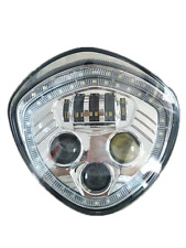 VICTORY Halo Angel Eye DRL LED Headlight For Cross Country/Roads Cruisers Chrome