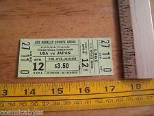 1974 Volleyball USA vs Japan ticket Los Angeles unused NICE!