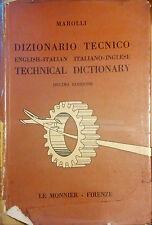 DIZIONARIO TECNICO ENGLISH-ITALIAN. ITALIANO-INGLESE DI MAROLLI