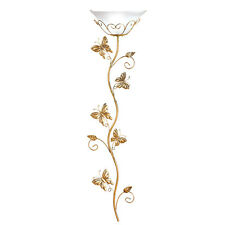 Climbing Butterflies Gold Finish Metal Wall Lamp, by Collections Etc