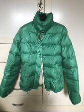 Piumino giacca giaccone donna GUESS vera piuma d'oca verde taglia S