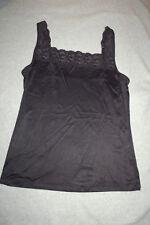 8efce834d4 Womens Shapewear BLACK STRETCH CAMISOLE Lace Trim SLEEK SMOOTH FINISH Sz M 8 -10
