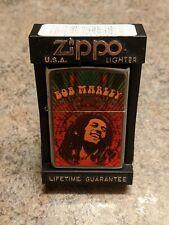 2016 Zippo Lighter - Bob Marley - Reggae - Music - Street Chrome - New in Box