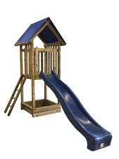 Kinderspielturm Jonas mit Sandkasten, Rutsche und Dach aus KDI-Holz TÜV geprüft