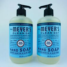 2-Pack Mrs. Meyer's Clean Day Rainwater Scent Liquid Hand Soap Olive Oil 12.5 Oz