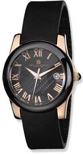 Charles Hubert Rose IP-plated Stainless Steel/Ceramic Black Dial Watch