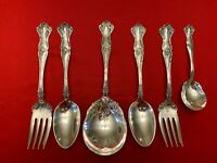 VINTAGE by 1847 Rogers Bros Silverplate Set of 6 SERVING PIECES Mixed Monos 1904