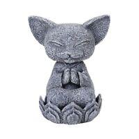 Cat Jizo Monk Figurine New