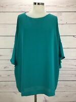 J.Jill Women's Wearever Collection Ruffle Sleeve Blouse Layered Top Size 2X NWT