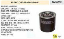 FILTRO OLIO TRASMISSIONE TRATTORINO RASAERBA RAMSOMES JOHN DEERE SNAPPER GRAVELY