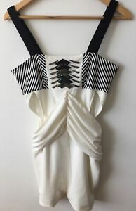 Sass And Bide White Body Plates Dress Size 40/8/10