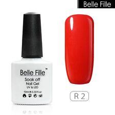 BELLE FILLE Nail Art Gel Polish Soak-off VU&LED Varnish Manicure 10ml-Red Series