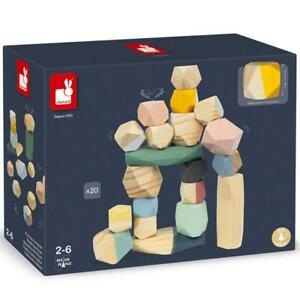 Janod Cocoon Stones Wooden 20pc