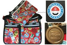 LeSportsac Nintendo Mario Travel Deluxe Everyday Bag Free Ship NWT Super Mario