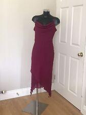 Elegant Topshop Wine Colour Dress Size 14 Only Worn Once VGC
