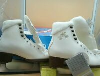 Botas  Stella/Made in Europe / Figure Ice Skates, Size 5, White