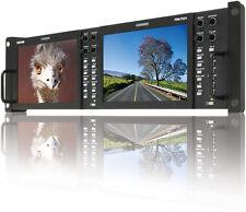 "TVLogic PRM-702A(800x480)Dual of 7"" LCD rackmount monitor(3RU), Waveform/Vector"