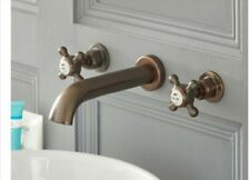 Milano Elizabeth - Traditional Wall Mounted 3 Tap-Hole Crosshead Basin Mixer Tap