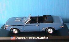 CHEVROLET CAMARO SS DELPRADO 1/43 BLEU ROADSTER BLUE USA ROAD CAR ETATS UNIS