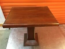 Antique Vintage Australian Art Deco 1920's Pedestal Cedar Occasional Lamp Table