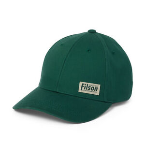 FILSON Logger Cap - Dark Green - Cotton Panel Adjustable Hat