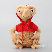 New ET Extra Terrestrial in Red Coat Alien Soft Stuffed Plush Doll Toy 11'' Big
