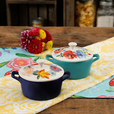 The Pioneer Woman Celia Floral Mini Casseroles Kitchen Bake-ware New  Set of 2