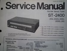 NATIONAL PANASONIC ST-2400 Stereo Tuner Service manual wiring parts diagram