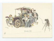 ad879 - advert for Mercedes Motor car 1904  - art  postcard