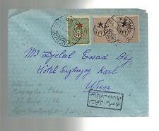 1916 Constantinople Turkey Censored Cover to Hotel Vienna Austria