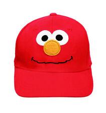 Sesame Street  Red Baseball Cap/Hat Kids for Girls/Boys Elmo Face