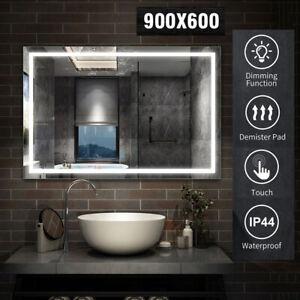 Illuminated Bathroom Mirror with Light up Large Wall led Mirror w/ Demister Pad