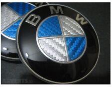 Logo Carbon BMW BLEU 82 mm Coffre Capot Série 1 3 5 7 E39 E46 E90 E60 E92 X3 X5