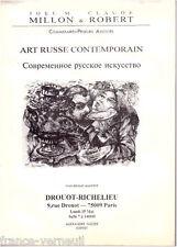 Catalogue Vente Drouot Millon Art Tableau Russe contemporain 15 Mai 1995