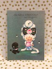 Vintage Sassy Ones Birthday Greeting Card Girl Black Poodle Unused + Envelope