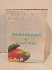 High Hemp Maui Mango Herbal Organic Vegan Wraps GMO Free 25 pouches 50 total