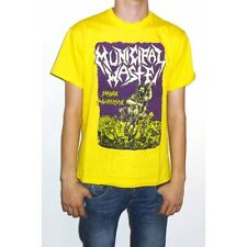 "Municipal Waste ""Massive Aggressive"" Yellow T-shirt - NEW OFFICIAL fatal feast"