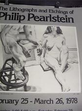 Philip Pearlstein     Art Poster       New condition     Nude Man & Woman