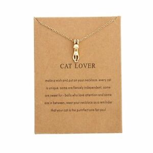CAT LOVER  necklace. PACKAGED CARD perfect gift. Cat Lover Pressie Aussie Seller