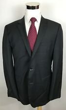 HUGO BOSS Keys12/Shaft2 Charcoal Slim Fit Super 100s Wool 2-Btn Suit 42L 36x32